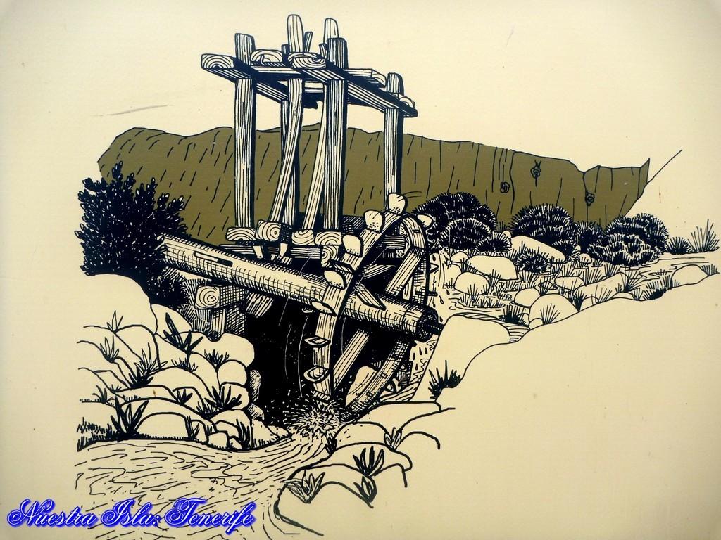 Foto 6. Ilustración de un batán. © Cabildo de Tenerife. Parque Rural de Anaga